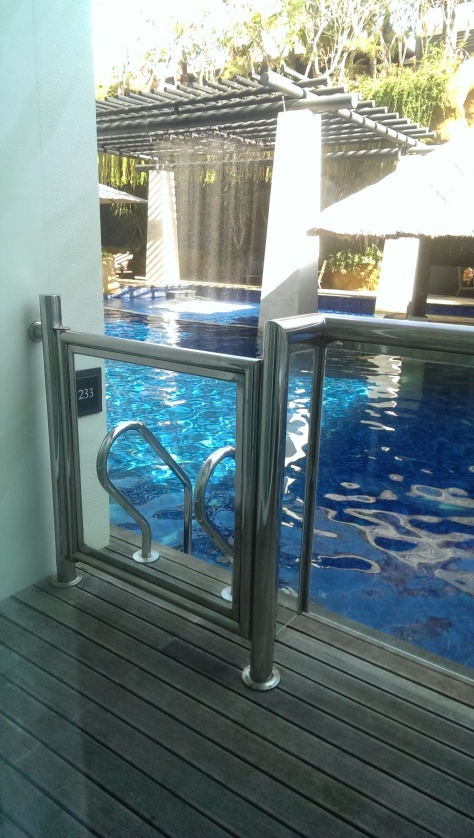 We could jump from our room to the pool!