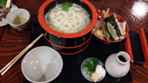 The udon set that I had from Honke Owariya