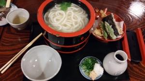 The udon set that I had from Honke Owariya